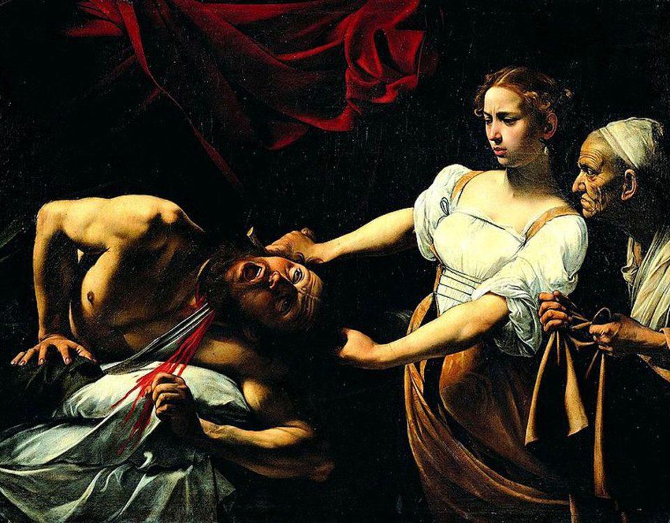 Giuditta che taglia la testa a Oloferne. Caravaggio 1598-1599
