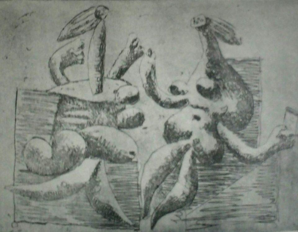 Duas Mulheres. 1933 - Água-forte, Pablo Picasso
